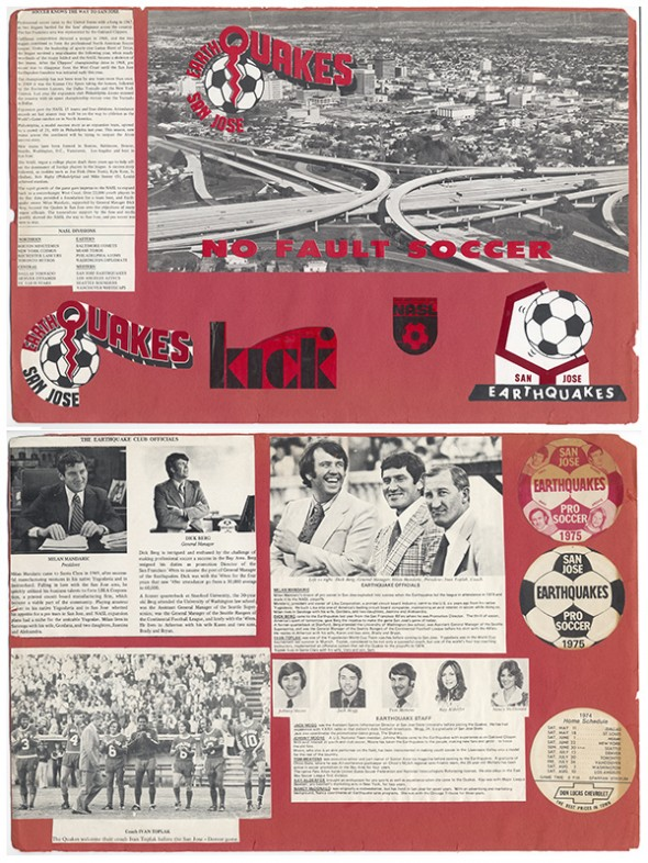 San Jose Earthquakes Scrapbook