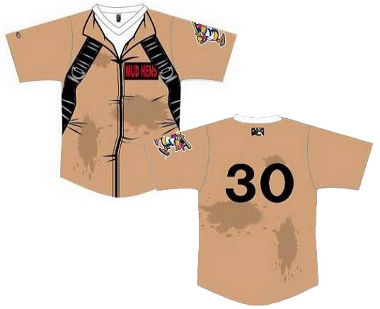 Toldeo Mud Hens Ghostbusters Jersey 2014