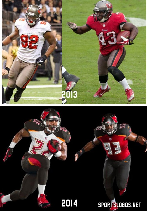 08301294c Bucs Compare. Original article below  The Tampa Bay Buccaneers unveiled  their new road uniform this morning ...