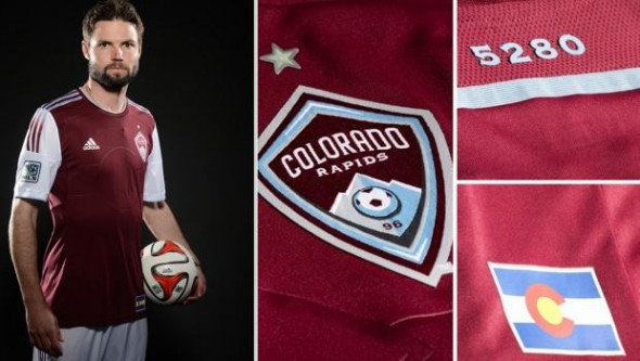 Colorado Rapids New Uniform 2014