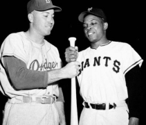 Duke Snider and Willie Mays 1954