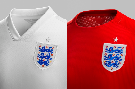 England National Team Reveals World Cup Kits