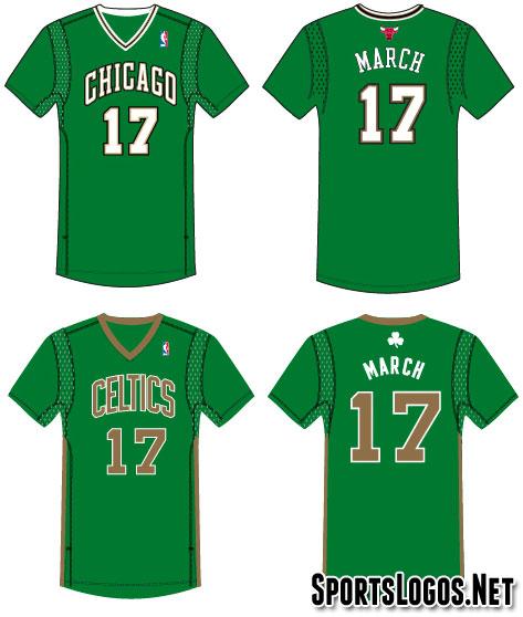 Bulls, Celtics going sleeved (and green) for St Patricks Day