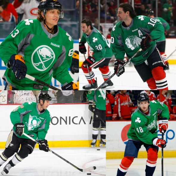 NHL St Patricks Day Uniforms 2014