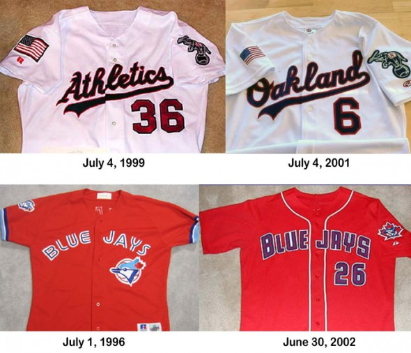 Oakland As July 4 Toronto Blue Jays Canada Day Jerseys