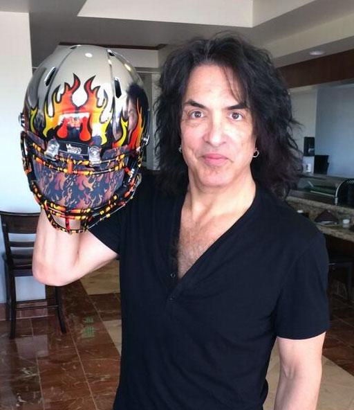 Paul Stanley LA Kiss Helmet
