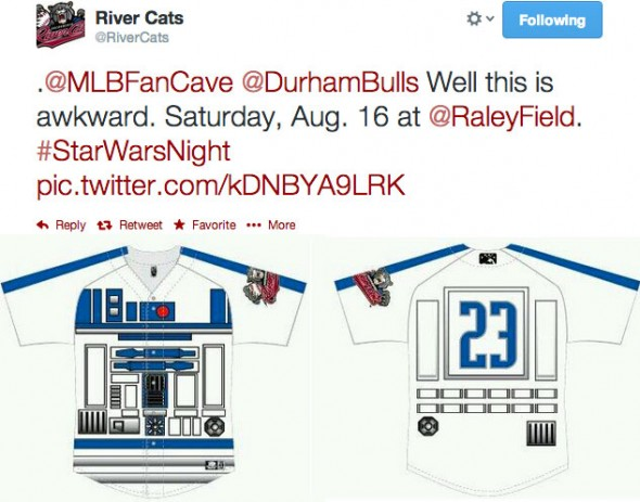 River Cats awkward Tweet