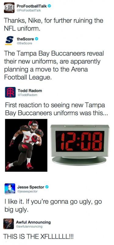 Tampa Bay Bucs New Uniform Reactions