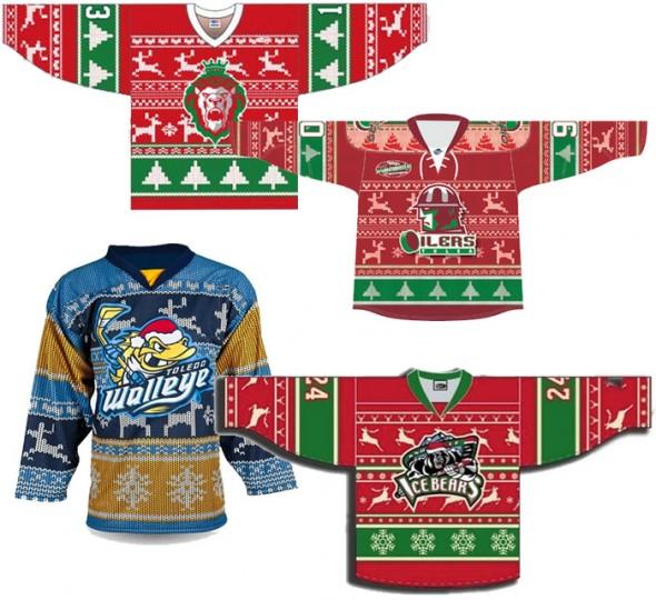 Ugly Christmas Sweater Hockey Jerseys