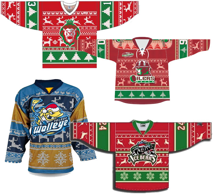 Ugly Christmas Sweater Hockey Jerseys Chris Creamers Sportslogos