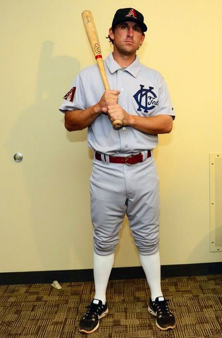 Arizona Diamondbacks KC Packers Throwback Uniform 2014