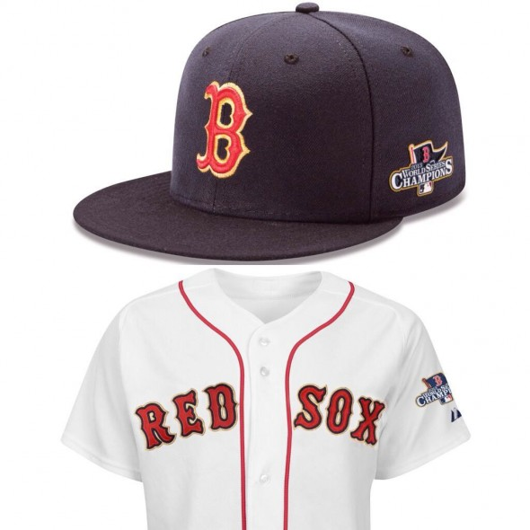 Boston Red Sox 2013 World Champions Uniform
