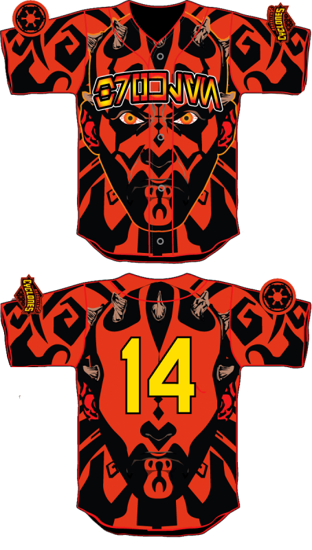 Brooklyn Cyclones Star Wars Jersey Darth Maul 2014