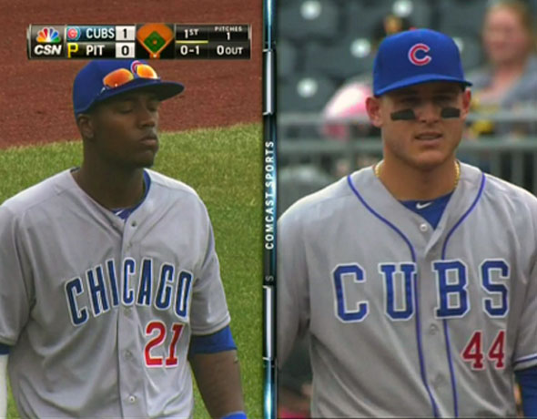 Junior Lake Wrong Cubs Uniform 2014