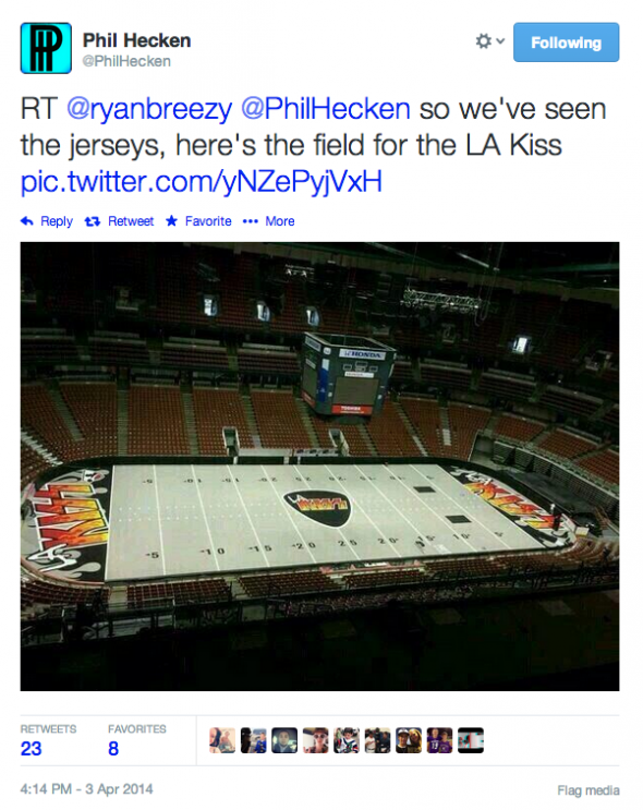 LA Kiss Field Tweet