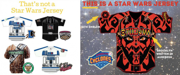 The Cyclones took a shot at the other Star Wars jerseys in their Tweet unveiling the uniform