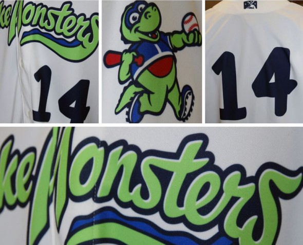 Vermont Lake Monsters Home Jersey Detail