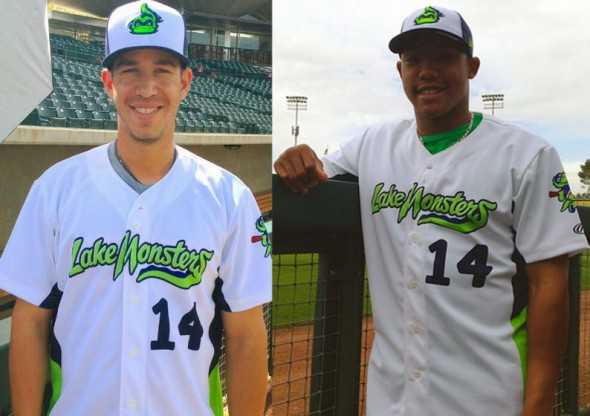 Vermont Lake Monsters New Home Jersey 2014