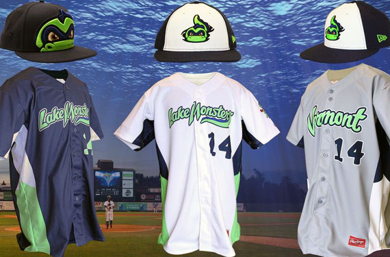 Vermont Lake Monsters New Uniforms 2014