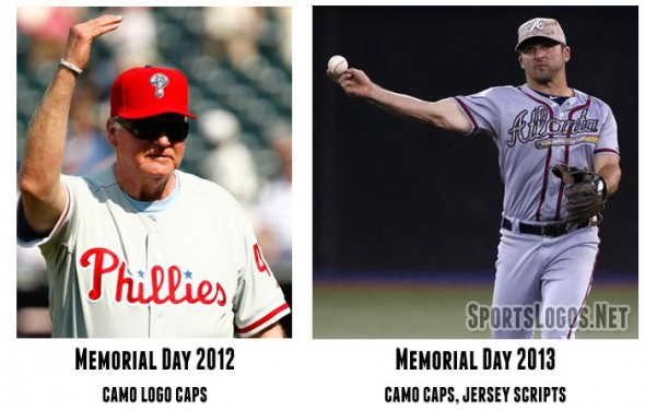 A look back at the 2012 and 2013 Memorial Day uniforms