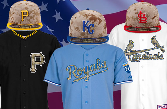2014 Memorial Day MLB Camouflage Uniforms