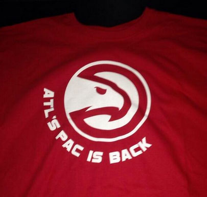 Atlanta Hawks Pac Is Back T-Shirt 2014 Playoffs