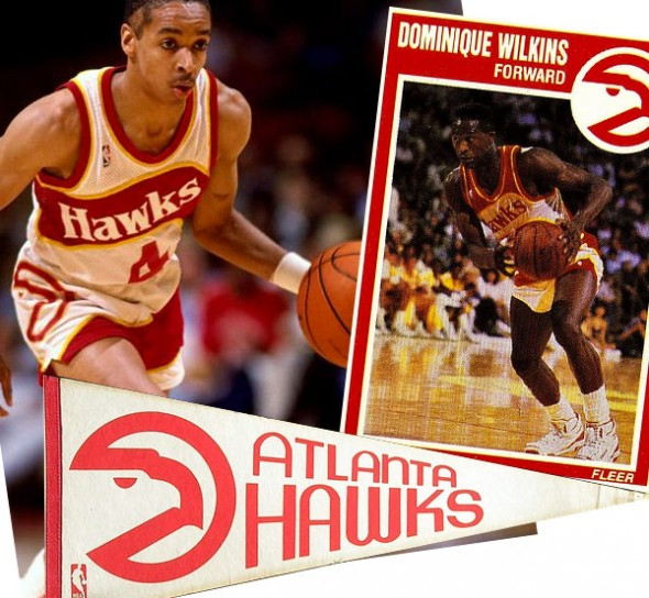 Atlanta Hawks Pac Man Logo 1980s