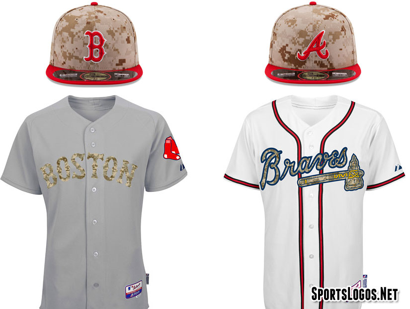 Camouflage Red Sox Braves 2014  6bc7e45ca4a