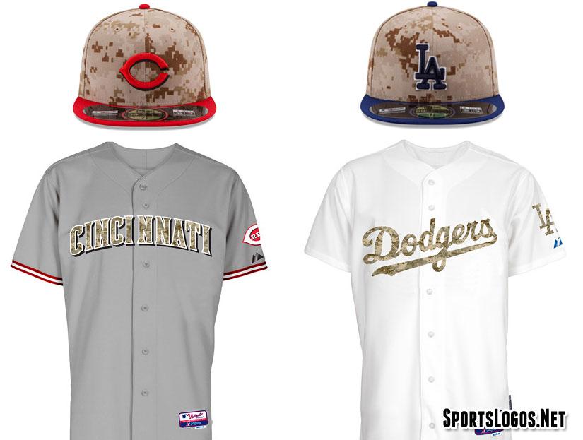 Camouflage Reds Dodgers 2014  7c460e0ac8c