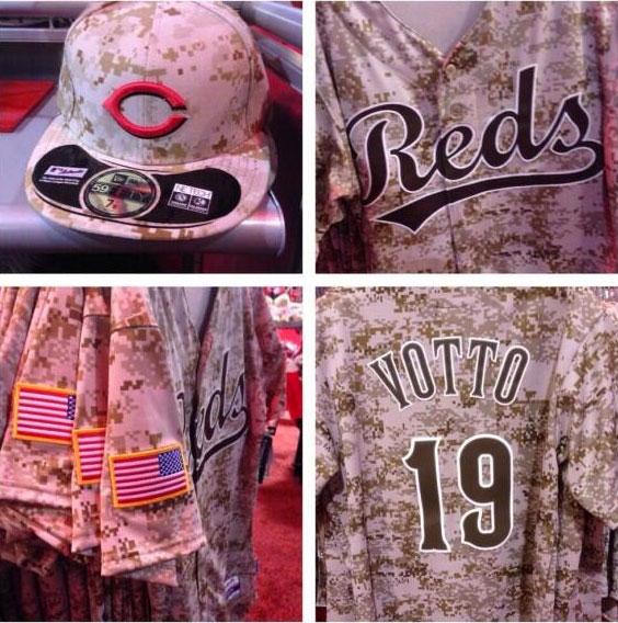Cincinnati Reds Camouflage Uniform