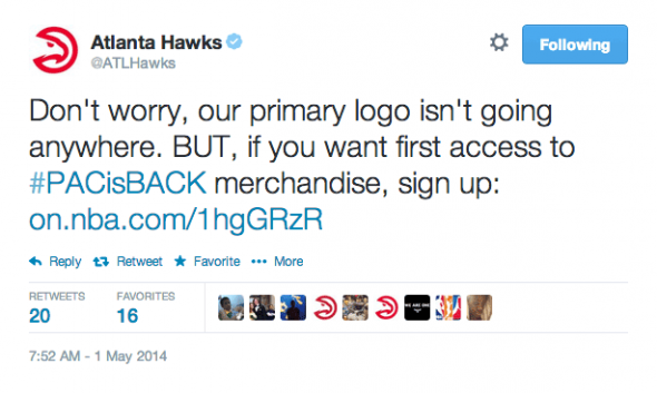 Hawks Primary Logo Staying