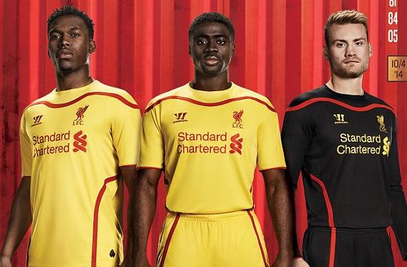 Liverpool Adds Away Kit To 2014-15 Set