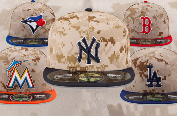 MLB Stars and Stripes Camouflage Caps 2014