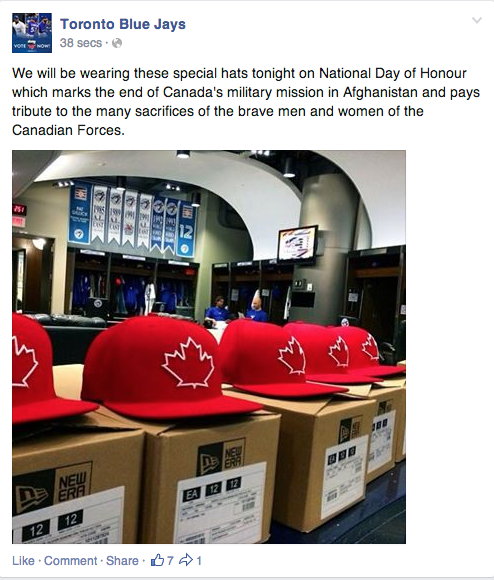 Blue Jays Facebook Red Caps May 9 2014