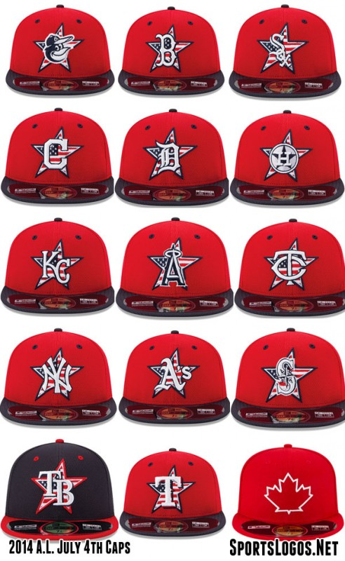 2014 AL 4th of July Caps MLB