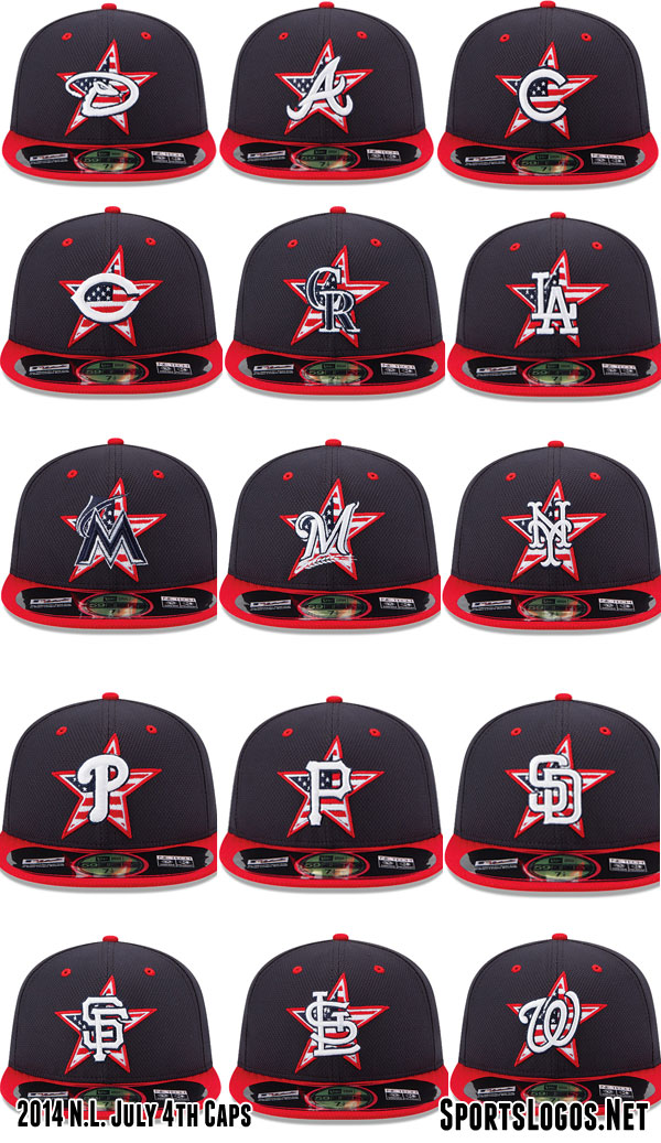 2014 NL 4th of July Caps MLB  70992146d82