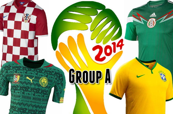 2014 World Cup Group A Uniforms