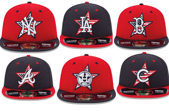MLB 2014 Stars and Stripes Caps