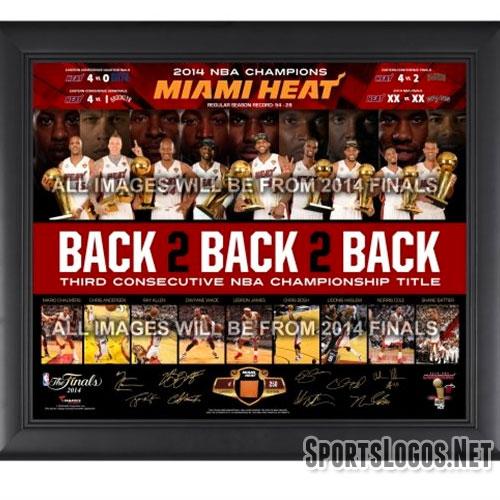 Miami Heat 2014 NBA Champs Frame