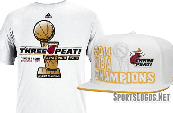 "1e8a1c2acb9 Miami Heat Phantom ""Three Peat!"" Champs Merchandise"