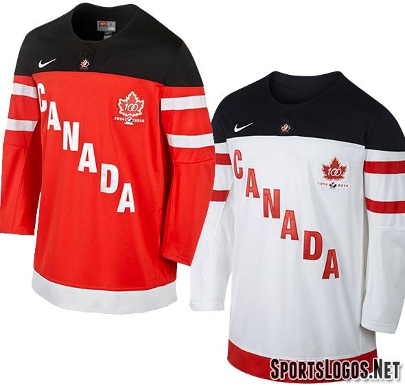 Hockey Canada Unveils New Uniforms, 100th Anniv. Logo