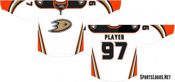 Quick mockup of the new Anaheim Ducks road uniform for 2015