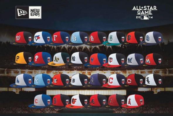2014 MLB ASG Caps