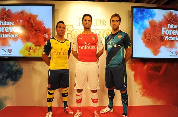 Arsenal Complete Switch To Puma With New Kits For 2014-15