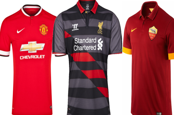 Manchester United, AS Roma, and Liverpool Reveal New Kits