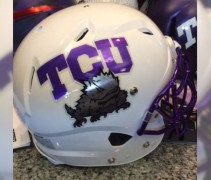 TCU Horned Frogs White Helmet 2014
