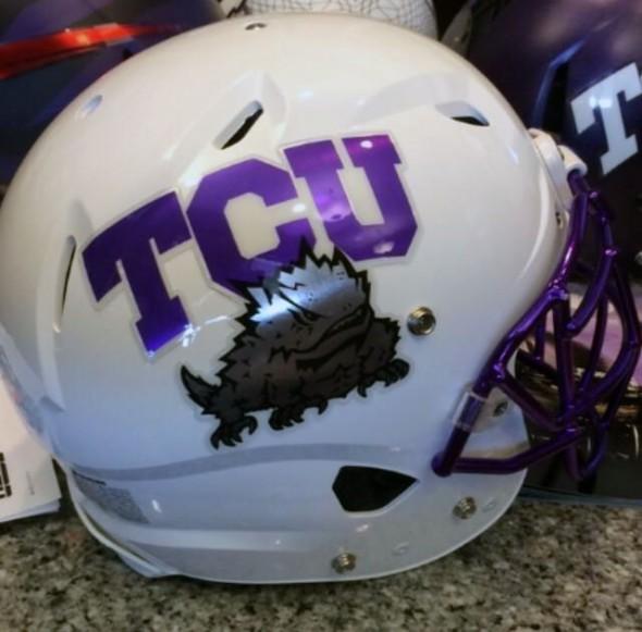 TCU Horned Frogs White Helmet