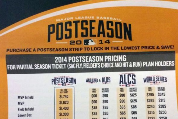 A's postseason ticket form showing 2014 logos -- Thanks to twitter user @GMogab