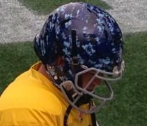 BlueBombers signature helmet