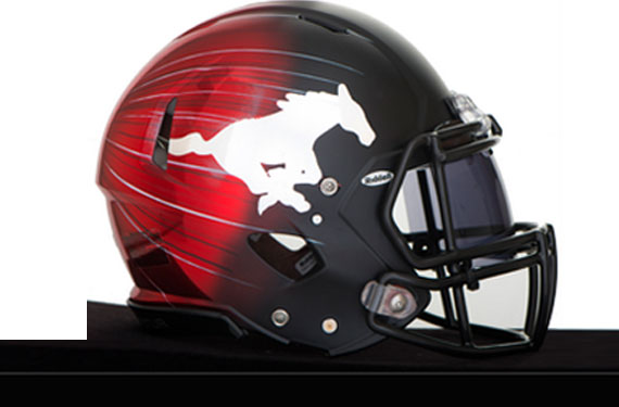 Stampeders Unveil New Signature Helmet